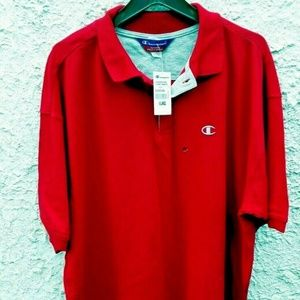 Champion Mens Polo NEW 2XL Red